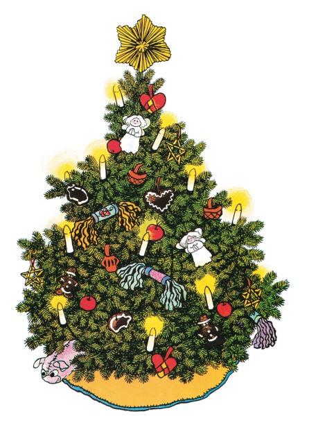 """L'albero di Natale secondo Ilon Wikland, da """"Betta sa fare tutto (o quasi)"""""""