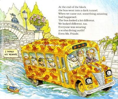 """Illustrazione da """"The Magic School Bus At the Waterwork"""" del 1986, uno delle mie preziose conquiste alla Fiera!"""