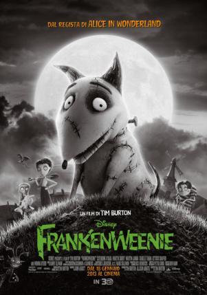 di Tim Burton, animazione b/n, USA 2012, durata 87 min.