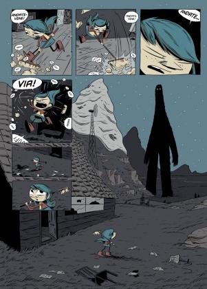 "Tavola tratta da ""Hilda e il gigante di mezzanotte"": clicca per ingrandire."