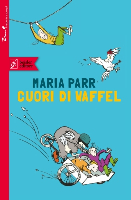 Cuori di waffel, di Maria Parr, illustrazioni di Bo Gaustad, traduzione di Alice Tonzig, Beisler 2014, 13€