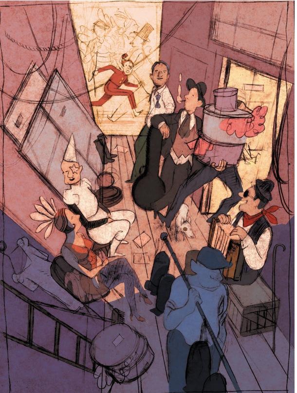 Illustrazione di Alfred.
