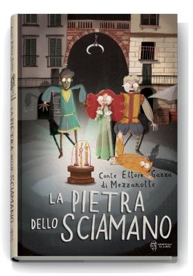 La pietra dello sciamano, di Ettore Gazza di Mezzanotte, illustrazioni di Andrea Cavallini, Grappolo di libri 2015, 12€.